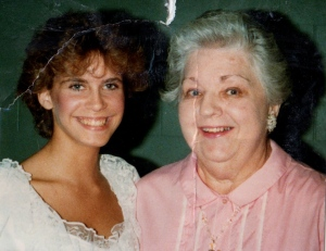 One of the few photos I have  of me and my Grandma. Circa 1984-ish.
