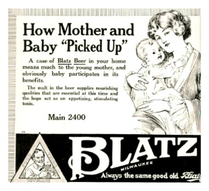 Blatz Beer for mother and baby ad